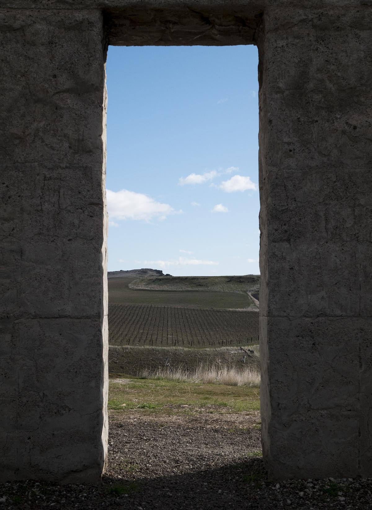 doorway to blue skies