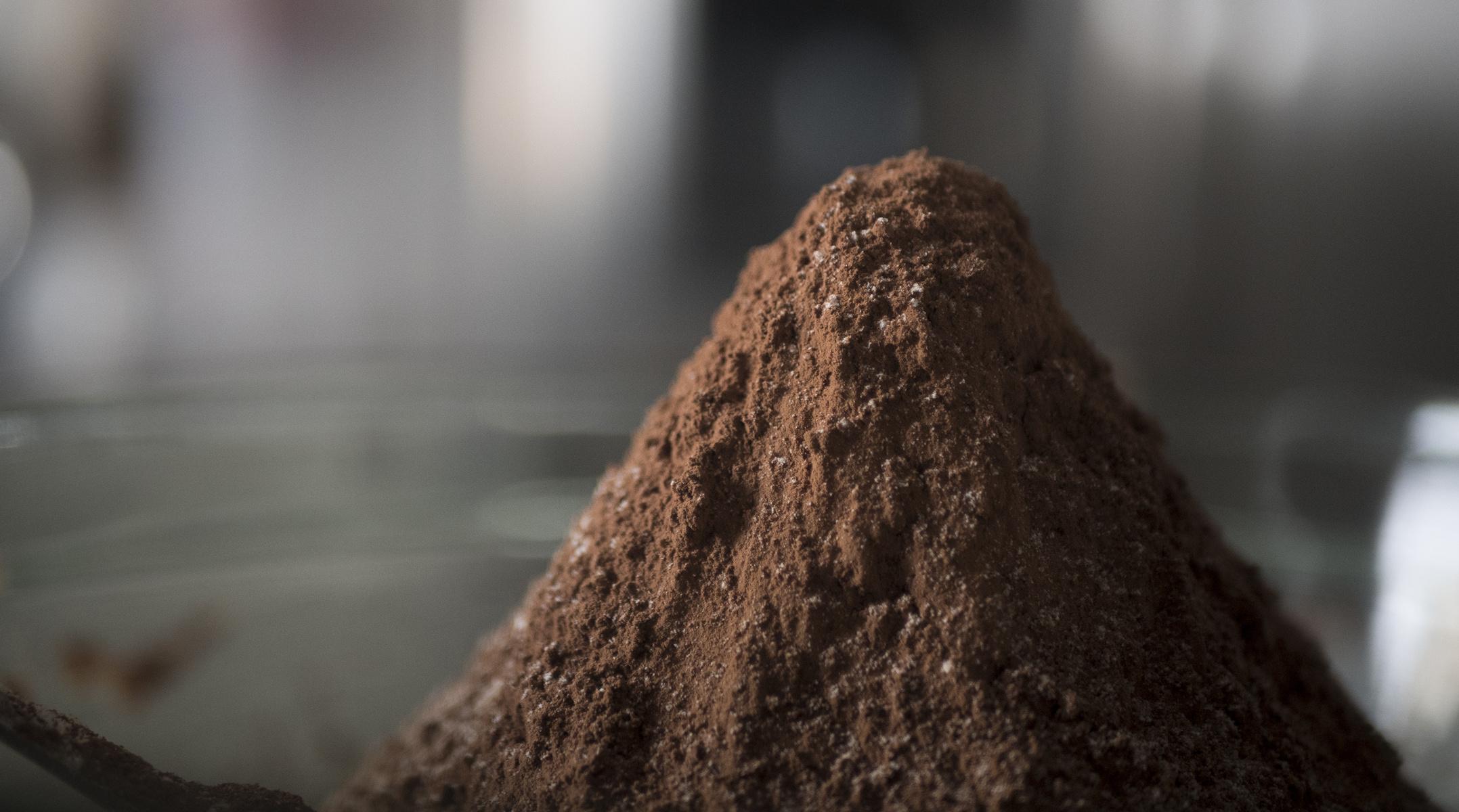 mountain of cocoa